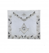 Masonic MASTER MASON Grand White Hand Embroided Apron with square compass G