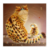 Jamicy Cute Cat Paintings Home Decor DIY Rhinestone Pasted Cross Stitch