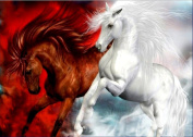 ChengYa 5D Diamond Embroidery Horses DIY Painting Cross Stitch for Home Decoration