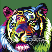 Jamicy Home Decor Stylish Animal Paintings Rhinestone Pasted Cross Stitch