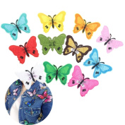 IGEMY 10 Pcs Butterfly Patches Iron On Stitching Lace Label Clothing Embroidered DIY