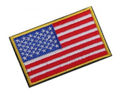 Yeah67886 No Sew American Flag Cloth Embroiderd Patch Badge