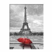Jamicy Stylish Tower Red Umbrella Embroidery Rhinestone Pasted DIY Diamond Cross Stitch