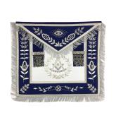 Masonic Past Master Apron Silver Hand Embroidery Apron Blue Velvet