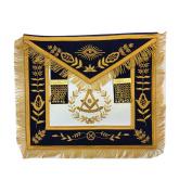 Masonic Past Master Apron Brand New Gold Hand Embroidery Apron Navy