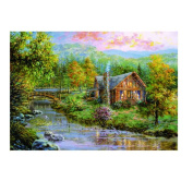 Kingko® Suburban Landscape 5D DIY Diamond Painting Embroidery Rhinestone Pasted Cross Stitch
