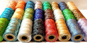 NEW 24 x METALLIC MULTI EMBROIDERY SPOOLS ASSORTED COLOURS 400 YARDS NEW COLLECTION BEST QUALITY