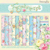 Dovecraft Forget Me Not Collection - Paper Pack 20cm x 20cm