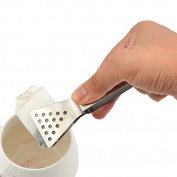 OUBORUI Stainless Steel Tea Bag Tongs Squeezer Strainer Holder Teabag