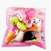 Squeeze Toy, ADESHOP 10pcs Medium Mini Soft Squishy Bread Toys Key Rings