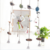 Wind Chime, Outgeek Room Hanging Decor Creative Bird Wishing Bottle Hanging Wind Bells