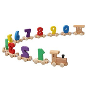 lulalula Wooden Train Numbers Toy Children's Early Childhood Education Puzzle Digital Learning Toys 0-9 Digital for Toddlers Kids