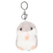 Dragon868 Cute Plush Hamster Toy Pendant Key Chain Clasp Key Ring Cellphone Hanging Ornaments