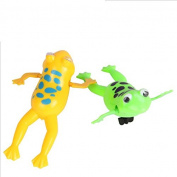 Kingwin 2pcs Cute Frog Clockwork Children Kid Pool Bathing Swimming Accessories