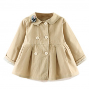 SMILEQ Fashion Kids Coat Baby Girl Autumn Cotton Coat Thick Warm Outwear Clothes Mesh Crochet