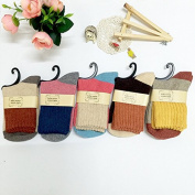 Thick and woollen socks_thick rabbit woollen socks, stockings, and a towel with warm colours, and the colour of the average of all codes