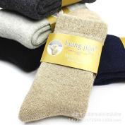 Thick warm SOCKS_drop-down terry socks thick men's woollen socks warm adult, male, light coffee, all code