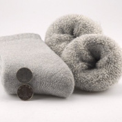 The rabbit wool SOCKS_giant thick rabbit wool socks thick terry socks men's socks in winter is a solid colour extra thick, multi-coloured, male, light grey, all code