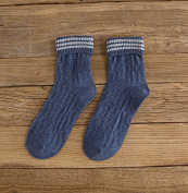Wool SOCKS_autumn and winter the new striped wool socks, girls, retro look of wool socks warm and stylish, blue, all code