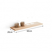 DELLT- Living Room Wall Shelves Solid Wood Wall Clapboard Nordic Simple Word Shelf Wall Shelf TV Wall Bracket