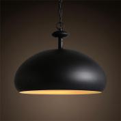 PIGE Nordic Personality Creative Simple Style Iron Retro Lamp Shade Restaurant Semi - Round Pot Chandeliers