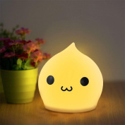 W-ONLY YOU-J Xmas Children Night Light Multifunction Silicone LED Cute Cartoon Cat Lamp USB Rechargable Kids Bedroom Bedside Nursery gift , A