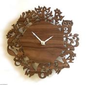 Countryside Forest animal bird Walls wall Decorative Clock , b