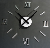 DIY fun clock creative wall stickers European-style Roman digital wall clock , a