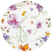 Krauff 006 Dessert Plates 19 cm Diameter of 21 244 Aquarelle, Porcelain, White, 7.5 x 7.5 x 1.7 cm