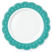Krauff Vice (002 Dessert Plate Diameter 21 cm Lacy, White, 21 x 21 x 1.6 cm