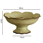 houyuanshun European Style Painted Ceramic Fruit Plate Jewellery Fashion Creative Ceramic High Fruit Plate Fruit Plate Decoration