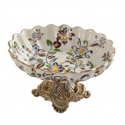 houyuanshun European - Style Home Decoration Fruit Plate Ornaments Ice Crack Ceramic Fruit Plate Resin Fruit Plate