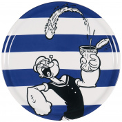 Excelsa Popeye Pizza Plate, Porcelain, Blue