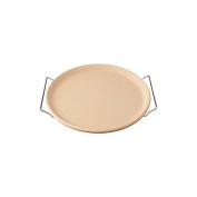 """Trabo """"Pizza Cook Cordierite Design"""" Plate, Off-White"""