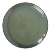 Naco trade Glaze Ceramic Pizza Plate, Celadon, 2X-Large