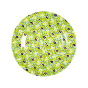 Rice Melamine Side Plate Two Tone with Clover Print