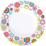 Krauff 21 244/013/Bowl Diameter 21.5 cm, Porcelain, White, 21.5 x 21.5 x 3,2 cm