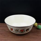 Enamel enamel enamel basin bowl soup mixing bowl salad basin enamel basin bowl,20*8 cm