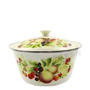 Kitchen ware, red enamel basin, fruit plate,A