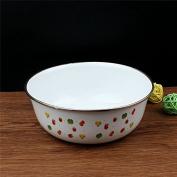 Enamel enamel enamel basin bowl soup mixing bowl salad basin enamel basin bowl,16*6.5 cm