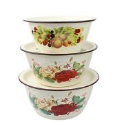 Plant flower enamel basin, bowl, soup,B