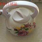 Enamel painting kettle, hot kettle,white