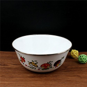 Enamel enamel enamel basin bowl soup mixing bowl salad basin enamel basin bowl,18*7.5 cm