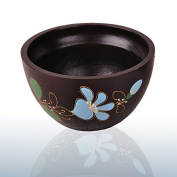 Home Furnishing painted wooden bowl of wood fruit, pure hand painted flowers tableware bowl