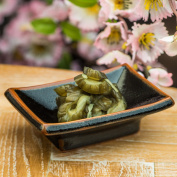 Japanese Sushi, Pickles & Appetiser Dish with Black Tenmoku Glaze