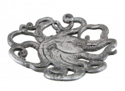 Antique Silver Finish Decorative Octopus Shaped Tray