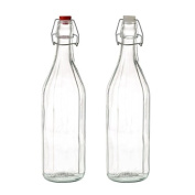 Glass bottle 1L classic Model Home and more - White