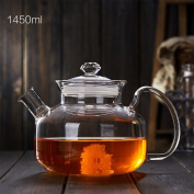 CHENGYI Thicker Glass Teapot High temperature resistant Glass Kettle Transparent Home Health Pot 1450ml