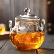 CHENGYI High Temperature Resistant Glass Teapot Retro Double Ear Pot 225ml Small glass pot