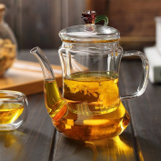 CHENGYI Retro Water Bottle Thicker High Temperature Resistant Glass Teapot 300ml Glass Health Pots